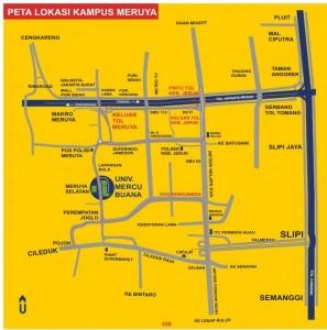 peta kampus meruya